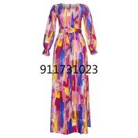 Ethnic Clothing Women Dress African Print Polka Dot Chiffon Dresses 2021 Spring Summer Fashion Maxi Abaya Kaftan Elegant Evening Robe Outfit
