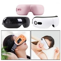 Rechargeable USB Heating Electric Eye Massager Portable Relieving Dry Eyes Heated Eye Mask Sleeping Adjustable Elastic Band1