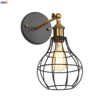 IWHD Rustic Antique LED Wall Lamp Beside Bedroom Living Room...