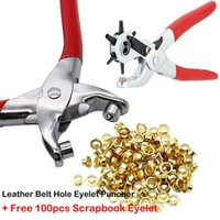 Repair Tools & Kits Eyelet Hole Puncher Leather Belt Punch Plier Revolve Sewing Machine Bag Setter Tool Watchband Strap Household Leathercra