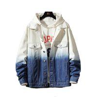 Men's Jackets With Gradual Personality Denim Men Coat Casual Teens Jacket Cotton Collar Long Sleeve Bomber