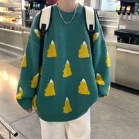 Men's Sweaters INXYZ 2021 Autumn Winter Fashion Warm Sweater Jacket Casual Oversize Loose Printed Pattern Knitwear Women's Coat