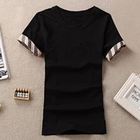 Luxurys 여성 여름 티셔츠 짧은 소매 짧은 소매 Crewneck 코튼 티셔츠