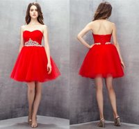 Ball Gown Sweetheart Pleated Short Bridesmaid Dresses Red Country Bridesmaids Gowns For Wedding Party Dress Crystal Sash Lace up Own Model 2021