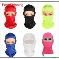 Caps Cs Outdoor Sports Neck Mask Ski Snowboard Wind Cap Police Cycling Balaclavas Motorcycle Face Masks 12 Colors Sscdm Af0V9