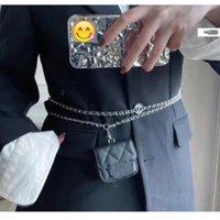 Primavera Early 2021 Nuevo Diseño de Moda Mini Bolsa de Auriculares Caviar Cadena Rhombic One Shoulder Cross Bag