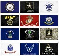 US-Armee-Flaggen-USMC 13-Arten-direkter Fabrik Großhandel 3x5FTs 90x150cm Luftwaffe Schädel Gadsden Camo Army Banner US Marines DAK09