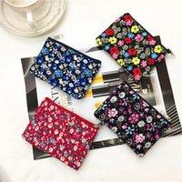 Floral Fabric Female Coin Purse Women Card Wallet Fashion Zipper Small Pouch Cute Princess Mini Bags Simple Women's Coin Purses
