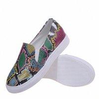 Scarpe Donna Mocassini Donne Slip on Scarpe Scarpe Casual Donne Piatto Donna Snake Sneakers Femminile Plus Size H125 #