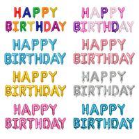 16 polegadas letras balões letras definir decoração festa de aniversário feliz aniversário alumínio folha ballons