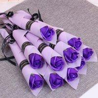 Singolo stelo artificiale rose garofano profumato bagno sapone brillante sapone rosa conservato fiore bouquet da sposa valentines mamma giorno regalo 243 s2