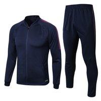 남자 긴 레이맨 도시 로얄 블루 재킷 축구 자켓 스포츠웨어 2021 성인 축구 훈련 저지 조깅 양복