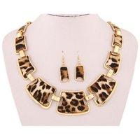 Chokers Fashion Gold Tone Style Leopard Grano Collar Cuello Babero para mujer