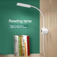Pode ser girado 360 ° Luz branca Luz de leitura de energia Luz de leitura LED Proteção para os olhos com USB e portátil magnético