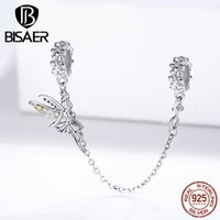 fairy charms BISAER 925 sterling silver forest fairy beads charms fit for charm bracelets silver 925 jewelry accessories ECC1278 Q0531
