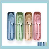 Cuisine El Fournitures Home Gardennordic Style Beatst Portable Vaisselle Vaisselle Vaisselle Vaisselle Vaisselle écologique Dîner Environnement Case à fourche Cuillère