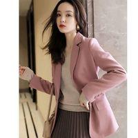 Women's Suits & Blazers Women 2021 Spring Autumn Blazer Female Fashion Formal Slim Notched Long Sleeve Solid Jacket Casual Ladies Elegant Z1