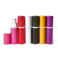 Parfüm Şişesi 5 ML 10 ML Alüminyum Eloksal Kompakt Parfüm Sonrası Tüz Atomizer Koku Cam Kokusu Şişe Karışık Renk