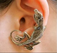 Hohe Qualität Punk Schmuck Weibliche Eidechse Ohrringe Gecko Vintage Ohr Clip Nachtclub Schmuck Dekoration Blatt