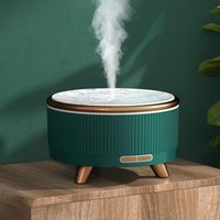 Humidifiers Household Ultrasonic Aroma Diffuser Wood Grain Humidifier 500ml Large Capacity Atomizer Mini Desktop Essential Oil Diffusers