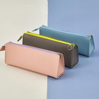 Pencil Bags Korean Christmas Multi-Color Pen Stationery Pouch Bag Case Pu Leather Cases With Zipper School Supplies
