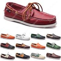 36-45 Uomo Scarpe casual Shoes Mocassini in pelle Scarpe da ginnastica in fondo a basso taglio classico nero rosso vestito scarpe uomo allenatore