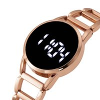 Wristwatches Led Digital Watch For Women Rose Gold Stainless Steel Women'S Electronic Watches Luxury Top Brand Wristwatch Ladies Dress Clock