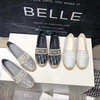 Mulheres Luxurys Sapatos Casuais Espadrilles Verão Designers Senhoras Senhoras Liso Praia Meio Chinelos Moda Mulher Mocassins Pescador Sapato De Lona Com Caixa Tamanho 34-42