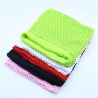Party Decoration 25*30cm 12inch Lined Crochet Elastic Wrapped Chest Kint TuTu Tube Top For Girls DIY Dress Skirt Accessories Baby Shower Dec