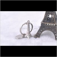 Simulation en métal 3D Tour Eiffel Keychain Français Souvenirs Paris Porte-clés Porte-clés Porte-clés KeyRing Livraison par X2NFH O2NLV