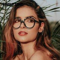 Sonnenbrille Frauen TR90 Brillen Brillengestell Kristallkante Runde Flache Linse Frühlingsbein Anti Blue Light Goggles Markdown Verkauf Brillen