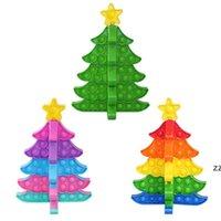 Árvore de Natal Empurre Fingertip Brinquedos DIY Puzzles Fidegeting Descompressão Brinquedo Ano Novo Dia dos Namorados Decorações HWF10606