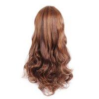 긴 파도 코스프레 가발 검은 보라색 핑크색 슬리버 그레이 금발 화이트 오렌지 브라운 23 색 합성 머리 가발