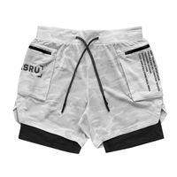 ASRV мужская новая двухпальная колода бегущий спортивный камуфляж шорты тренажерный зал Фитнес тренировки Бермудские бодибилдинг быстрые сухие мужские короткие штаны L0220