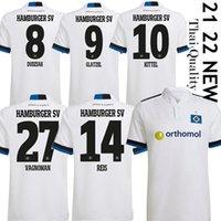 2021 2022 Hamburger SV Jerseys de football Home Vagnoman Onana Leibold Reis Kittel Glatzel Dudziak 21/22 HSV Football Shirts Uniformes 2xl Männer Hommes