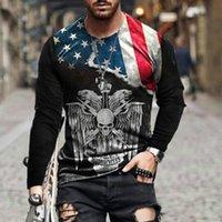 الرجال القمصان 2021 3d العلم الوطني serise الرجال t-shirt الصيف الشارع الأزياء الأزياء أوراق اللعب شعرية ساحة شريط بارد الطباعة