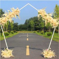 Party Decoration Customize Wedding Props Iron Gate Geometric Pentagon Shelf Outdoor Stage Background Backdrop Stand
