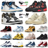 Nike Air Jordan 4 Basketball Shoes Retro 4s Red Thunder Shimmer 1s Fragment Military Blue 11s Concord 45 12s Utility 13s Obsidian Mens Trainers Sport Sneakers