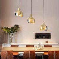 Pendant Lamps Modern Iron Glass Ball Led Light Chandelier Ceiling Wall Moon Lamp Lamparas De Techo Colgante Moderna Bedroom Dining Room