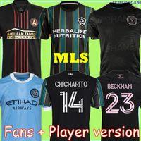 MLS 20 21 ATLANTA United FC Soccer Jersey 2021 2022 New York City La Galaxy Футбол Футбол Футбол Версия INTER Miami CF Tops Beckham Рубашка