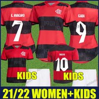 2021 2022 flamengo امرأة الفانيلة e.ribeiro gabi football الفانيلة الاطفال كيت جيرسون دييغو السيدات قمصان camisa flamengo feminina infantil 21/22