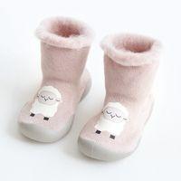 겨울 신발 아기 따뜻한 부티 신생아 소녀 아기 신발 유아 소녀 구두 첫 번째 단계 베비 니트 슬리퍼 워커 부드러운 신발 소년 210315