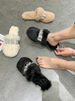 Slippers Shoes Women House Platform Fur Flip Flops Luxury Slides Flock Low Pantofle Cover Toe Soft Plush Designer Flat Massage