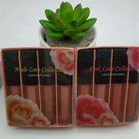 립 메이크업 4pcs 립글로스 광택 무광택 Minis 액체 립스틱 세트 누드 핑크 컬렉션 edtion 세트