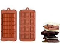 Cavity Break-Apart Stampo del cioccolato Cassettiera antiaderente Proteine del silicone e dell'energia Bar Candy Stampi Food Grade DWA7048