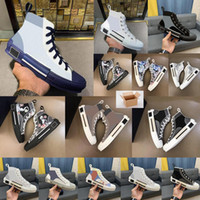 Tênis de Moda 19s Flores Técnico Canvas B23 Sapatos Casuais Oblique Mens B23 Hightop Sapatos Womens e Homens Stylist Sneakers Wiyh Caixa