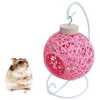 Маленькое животное поставляет хомяк висит колыбель птица клетки клетку ротанга гамак спать кровать прятать игрушки Nest Pet