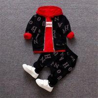 Детская Одежда Весна Осень Новорожденные Мода Хлопковые Пальто + Топы + Брюки 3 ШТ. Сцепления для Bebe Boys Movers Toddler Повседневная Наборы 210309