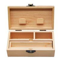 Wood Stash Caixa de armazenamento de tabaco Caixa de rolamento bandeja natural feitos artesanais tabaco de madeira e armazenamento de ervas para fumar acessórios de tubulação 483 R2
