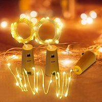 Miflame 1M 2M LED Luz Luz Fairy Garland Bolha de garrafa para artesanato de quarto Luzes de corda Luzes de casamento Decoração de férias de Natal